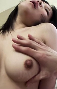 Yuu Sakura Asian with dark nipples is pumped in hairy beaver