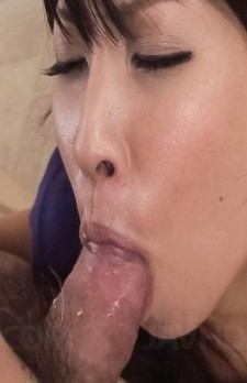 Chihiro Kitagawa Asian has hot bum fondled and gets cock on mouth