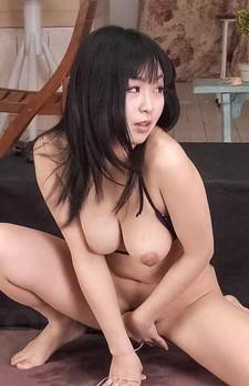 Nozomi Hatsuki Asian is fucked with vibrator and licks balls