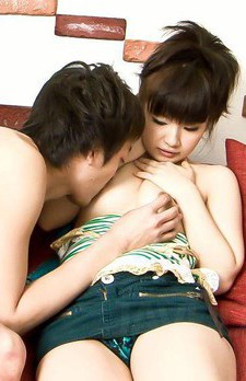 Akane Ozora Asian rubs her clit while is screwed in her poonanie
